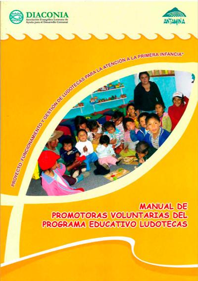 Manual de promotoras voluntarias del programa educativo ludotecas